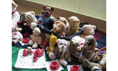 Did you go down to the woods today? - Braunston WI hosts visiting WI groups and their Teddy Bears for a hugely huggable history of Teddy Bears.