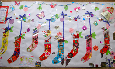 Christmas Collage made by children and parent helper