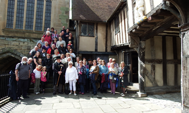 Outside the Lord Leycester Hospital in Warwick 2015
