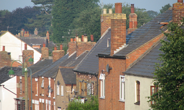 Houses on High Street - View from Ashby Road looking towards the Green