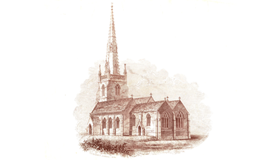 Old drawing of All Saints Church