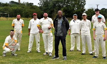 Devon Malcolm  - England Test cricketer, Devon Malcolm with some of the players