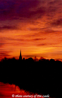 All Saints' Dreaming Spire in the heart of the sunrise